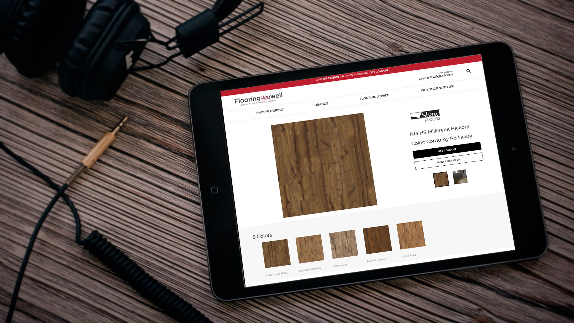 Flooring you well on tablet | Mobile Marketing, LLC