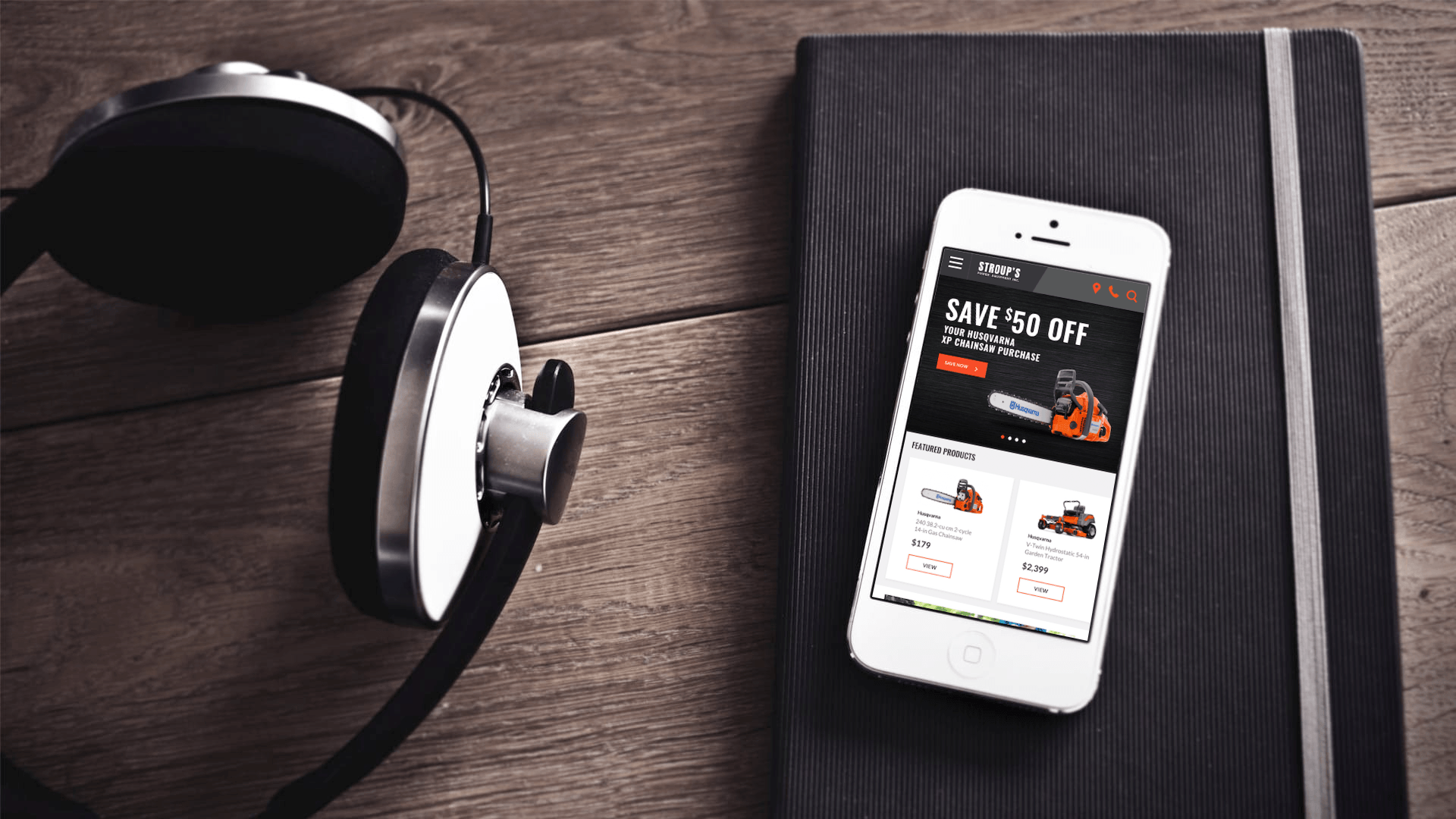 Mobile with headphones | Mobile Marketing, LLC