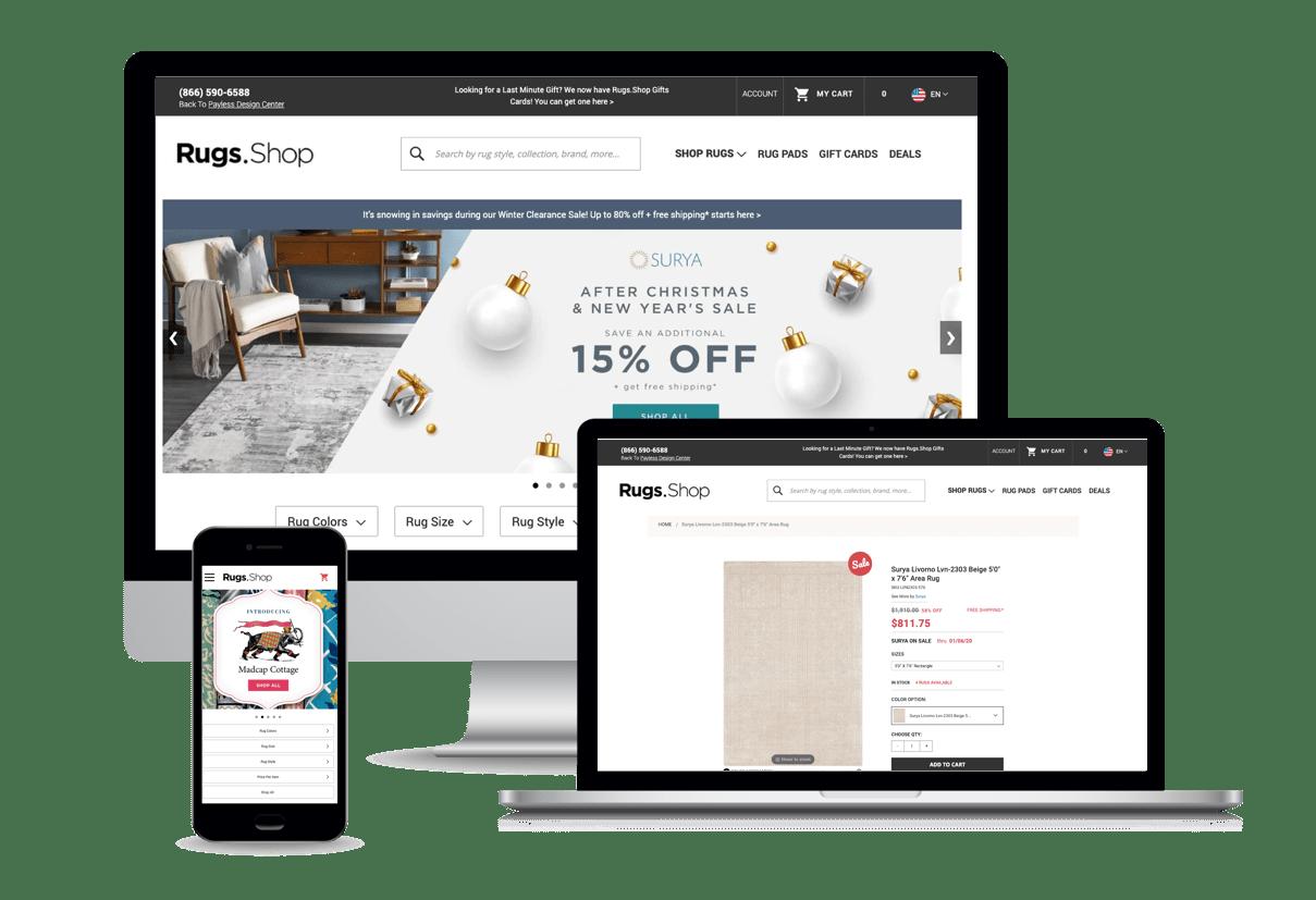 Rugshop ads | Mobile Marketing, LLC